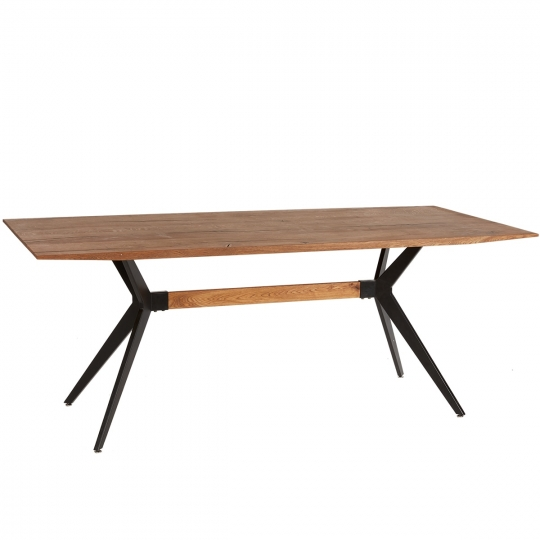 CROSS DINING TABLE - Oil - 200 x 90 x 76 cm - Brown
