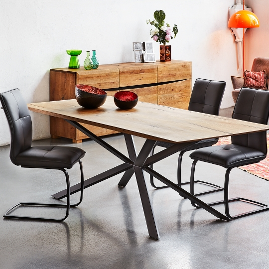 COPA TABLE - Wax - 220 x 100 x 76 cm - Brown