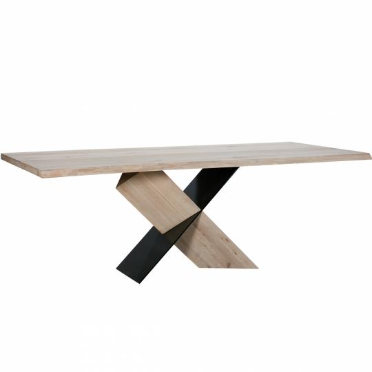 INSTINCT DINING TABLE - White Wax - 220 x 100 x 77 cm - Brown